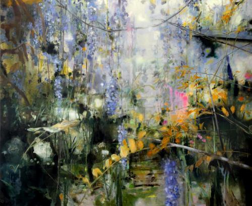 Carola Schapals olie op doek titel Garden without Gardener