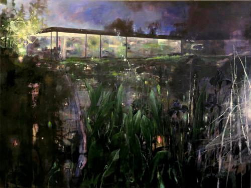 How to catch a wow with a view, 2019. H 120 x B 160 cm, oil on canvas